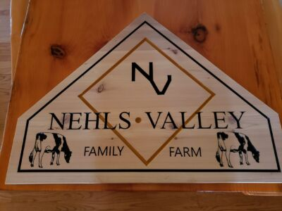 Cedar Custom Carved Farm Sign