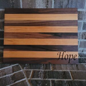 Custom Designed, Carved & Built Cutting Board