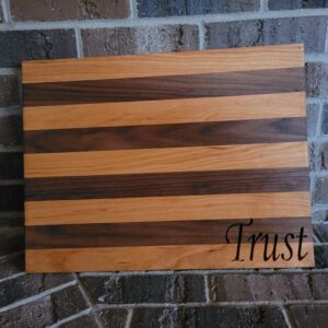 Custom Designed, Built & Carved Cutting Board