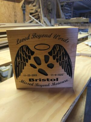 Custom Made and Designed Dog Urn