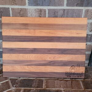 Custom made and Carved Cherry and Walnut Cutting Board