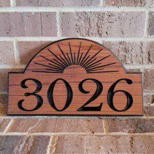 Custom Carved and Designed Cedar Address Sign