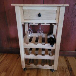 Wine Cabinet with wine glass storage on wheels