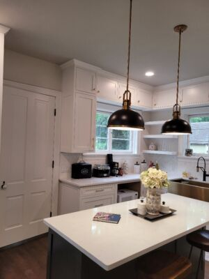 Custom Painted Cabinets with Inset Doors