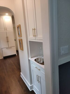 Custom Built Painted Cabinets with Inset Doors