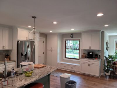 Custom Built and Painted Cabinets