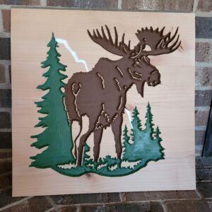 Custom Carved Moose for Toybox