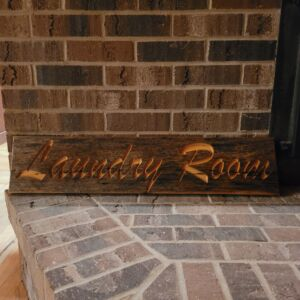 Reclaimed Barn Board Carving