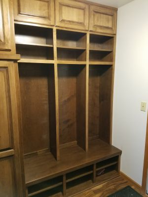 Custom Built Locker Style Cabinets