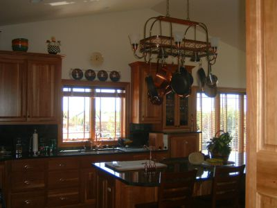 Stained Maple Cabinets