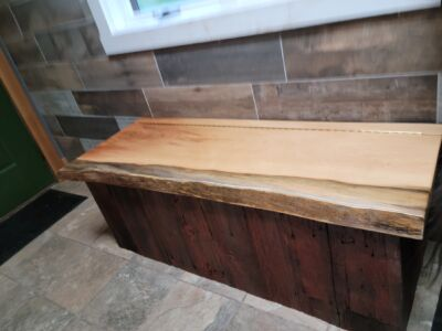 Custom Built Barn Board Bench