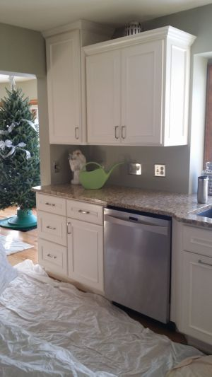 Painted Maple Cabinets