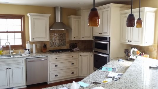 Painted Maple Cabinets with Glazing